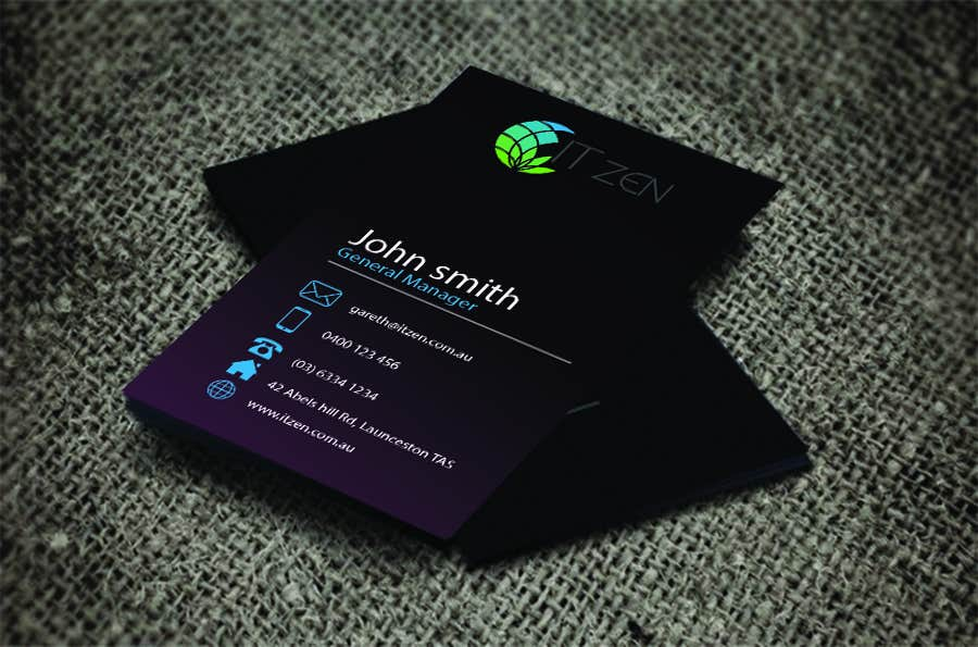Entry 76 by rizwan73 for design some business cards for it zen contest entry 76 for design some business cards for it zen reheart Choice Image
