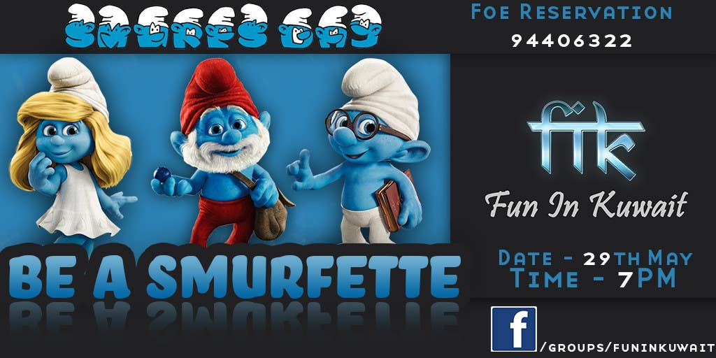 Konkurrenceindlæg #                                        3                                      for                                         Design a Banner for an Smurf Event