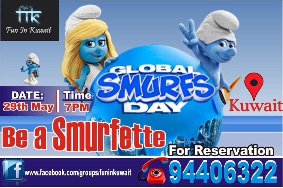 Konkurrenceindlæg #                                        8                                      for                                         Design a Banner for an Smurf Event