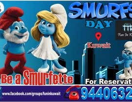 nº 9 pour Design a Banner for an Smurf Event par FiifiOtJnr