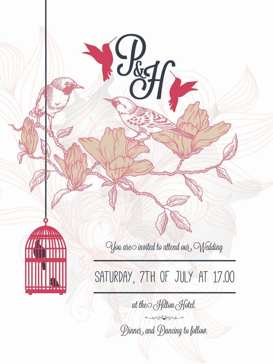 Konkurrenceindlæg #                                        11                                      for                                         Wedding Invitation design needed