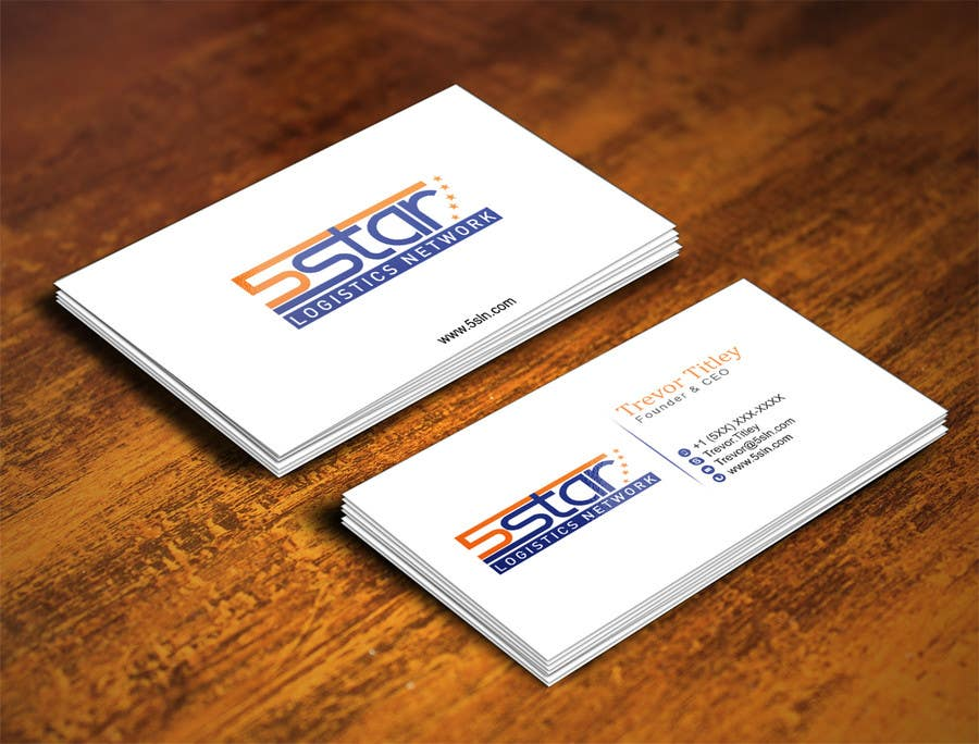 Contest Entry #                                        20                                      for                                         Design some Business Cards for 5 Star Logistics Network
