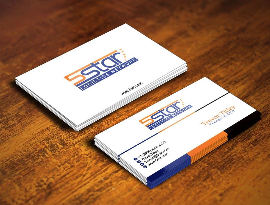 Konkurrenceindlæg #                                        28                                      for                                         Design some Business Cards for 5 Star Logistics Network