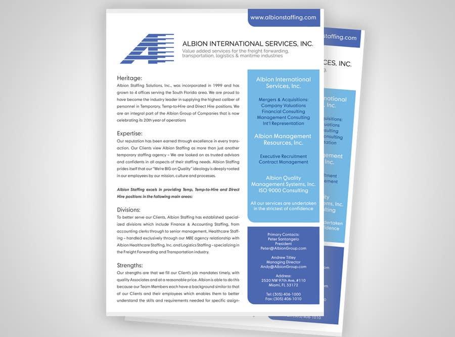 Inscrição nº 9 do Concurso para Design some Stationery for Albion Group of Company
