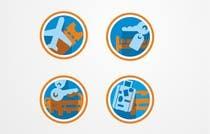 Graphic Design Kilpailutyö #13 kilpailuun Design Icons for travel website