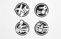 Graphic Design Kilpailutyö #15 kilpailuun Design Icons for travel website