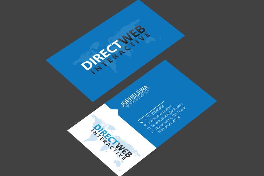 Konkurrenceindlæg #                                        46                                      for                                         Design Business Card For Marketing Agency