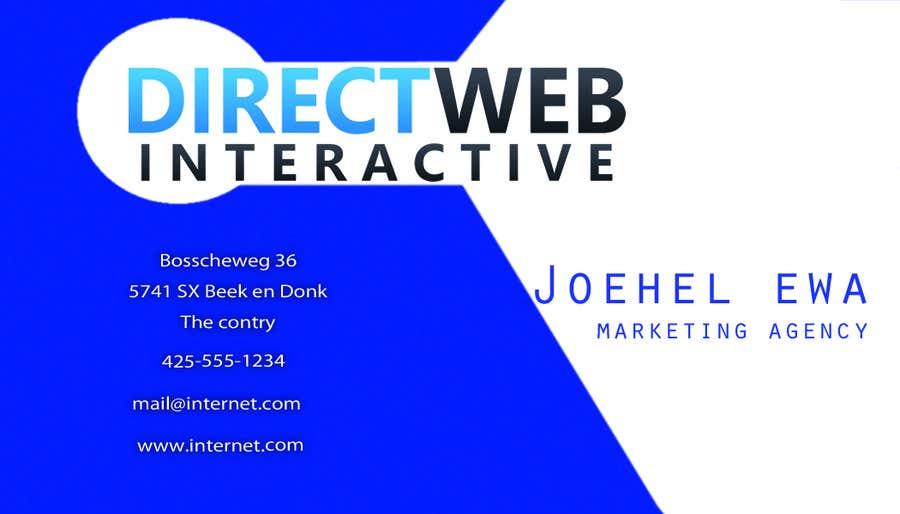 Konkurrenceindlæg #                                        108                                      for                                         Design Business Card For Marketing Agency