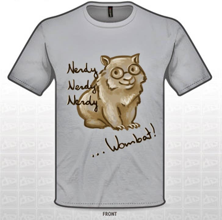 Konkurrenceindlæg #                                        3                                      for                                         Design Wombat T-Shirt