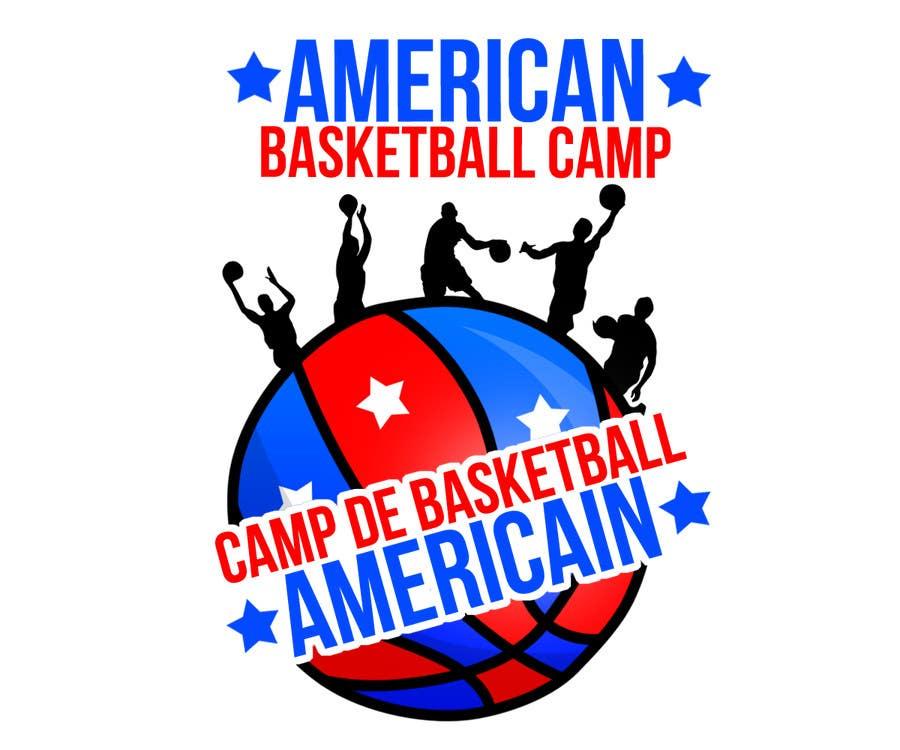 Penyertaan Peraduan #7 untuk Design a Logo for Basketball Camp in Paris, France