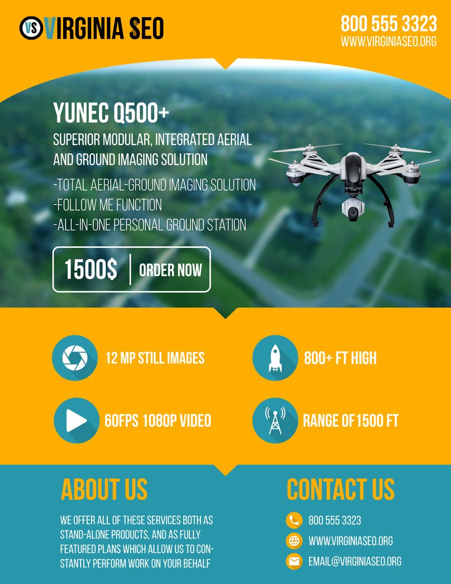 Contest Entry #                                        16                                      for                                         Design an Advertisement for Drone Work
