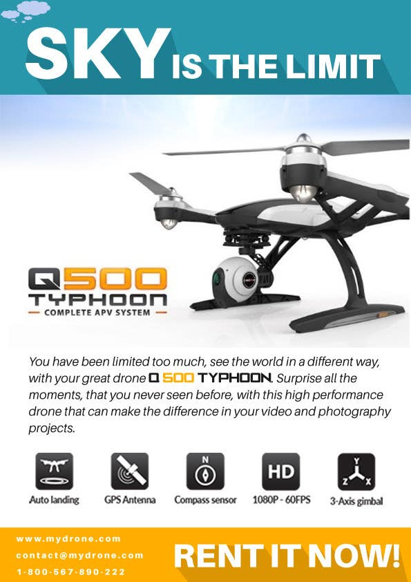 Contest Entry #                                        13                                      for                                         Design an Advertisement for Drone Work