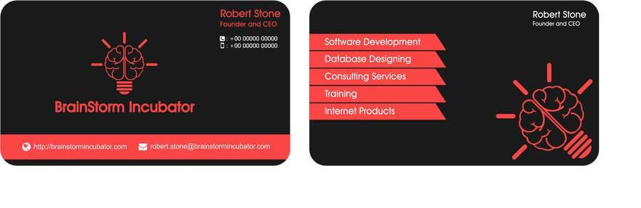 Inscrição nº 53 do Concurso para Design some Business Cards for BrainStorm Incubator