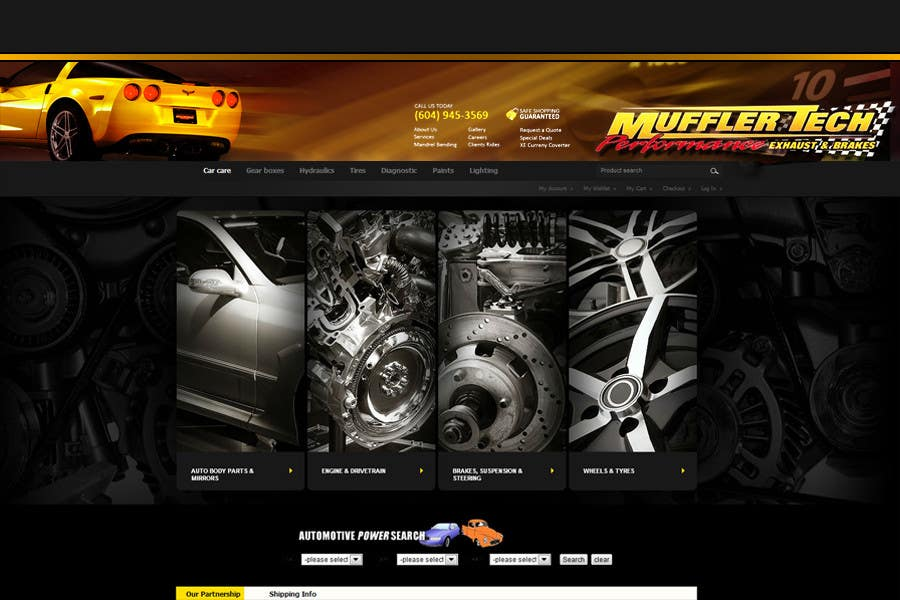 Entri Kontes #                                        11                                      untuk                                        Graphic Design for Muffler Tech