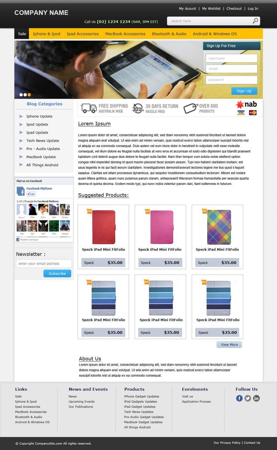 Inscrição nº                                         19                                      do Concurso para                                         Single page design for webpage