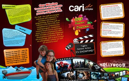 msdvenkat tarafından Design a Fun Daycamp brochure themed around 'SHOWTIME' için no 31
