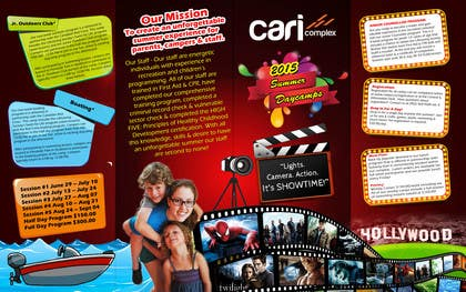 msdvenkat tarafından Design a Fun Daycamp brochure themed around 'SHOWTIME' için no 32
