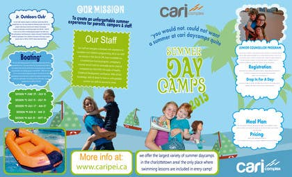 #29 untuk Design a Fun Daycamp brochure themed around 'SHOWTIME' oleh sgsicomunicacoes
