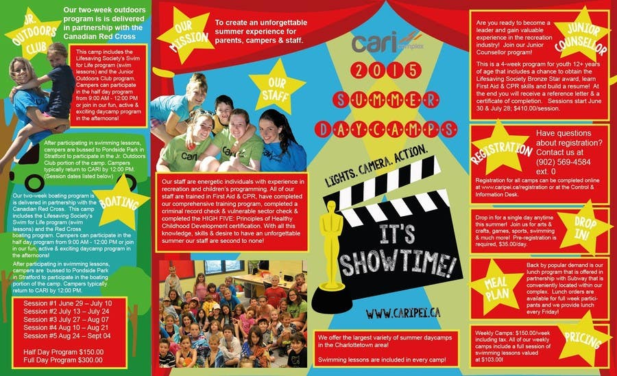 Contest Entry #                                        41                                      for                                         Design a Fun Daycamp brochure themed around 'SHOWTIME'