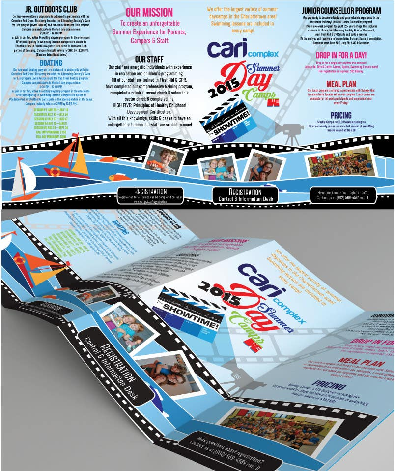 Contest Entry #13 for Design a Fun Daycamp brochure themed around 'SHOWTIME'