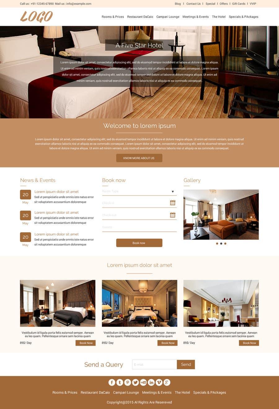 Konkurrenceindlæg #                                        34                                      for                                         Design a Website Mockup for Hotel
