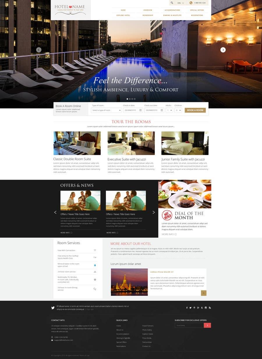 Konkurrenceindlæg #                                        6                                      for                                         Design a Website Mockup for Hotel