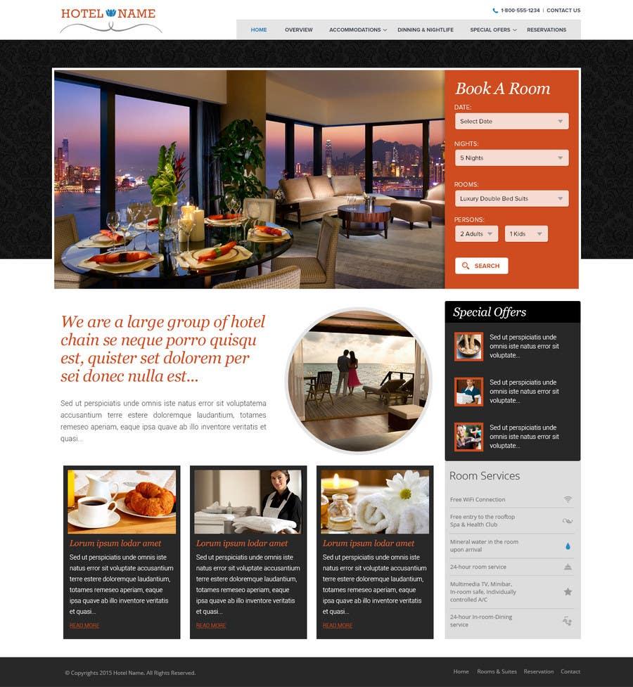 Konkurrenceindlæg #                                        12                                      for                                         Design a Website Mockup for Hotel