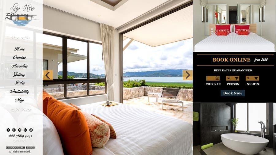 Konkurrenceindlæg #                                        27                                      for                                         Design a Website Mockup for Hotel
