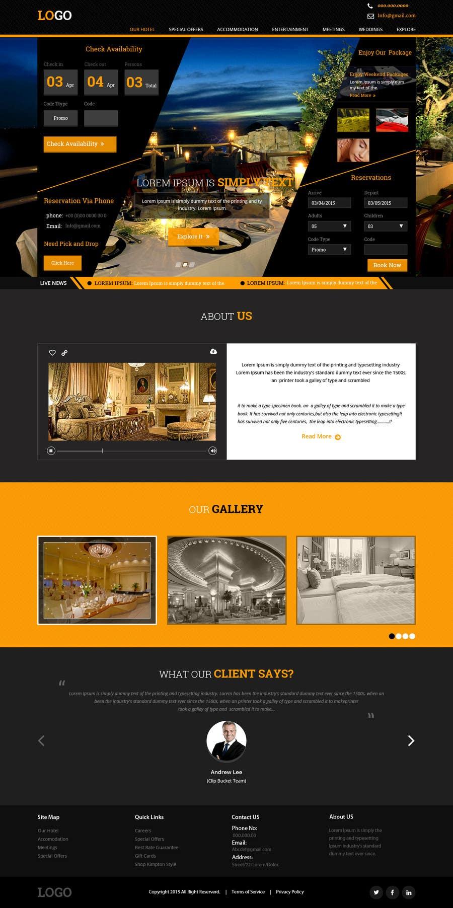 Konkurrenceindlæg #                                        19                                      for                                         Design a Website Mockup for Hotel