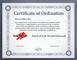 #24 for Design a Ordination Cirtifcate by zelihowskimichel