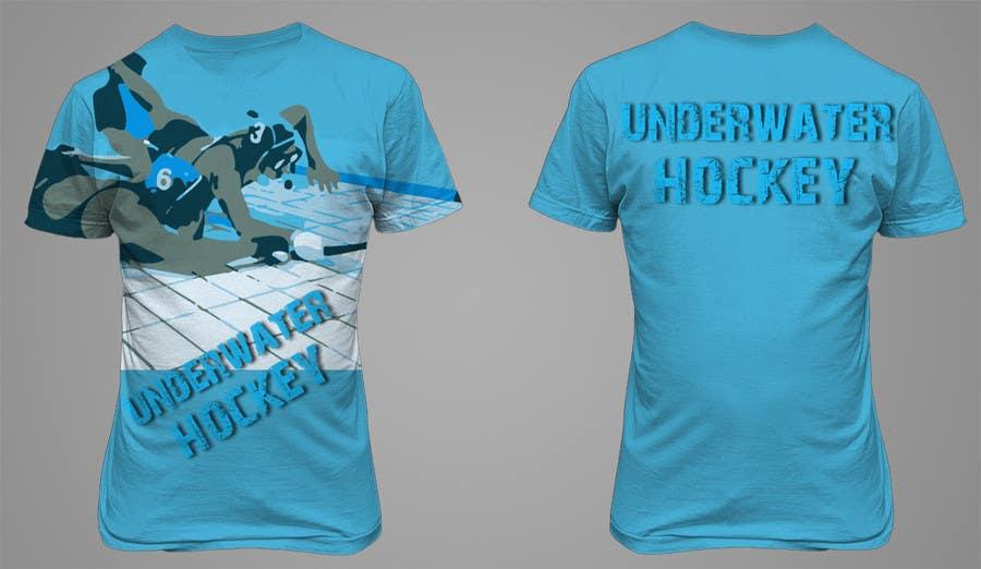 Kilpailutyö #14 kilpailussa Do a t-shirt for Underwater Hockey