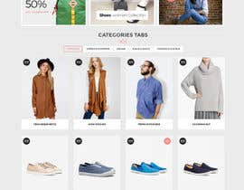 nº 6 pour Design the homepage of Fashion eCommerce store par websoft07