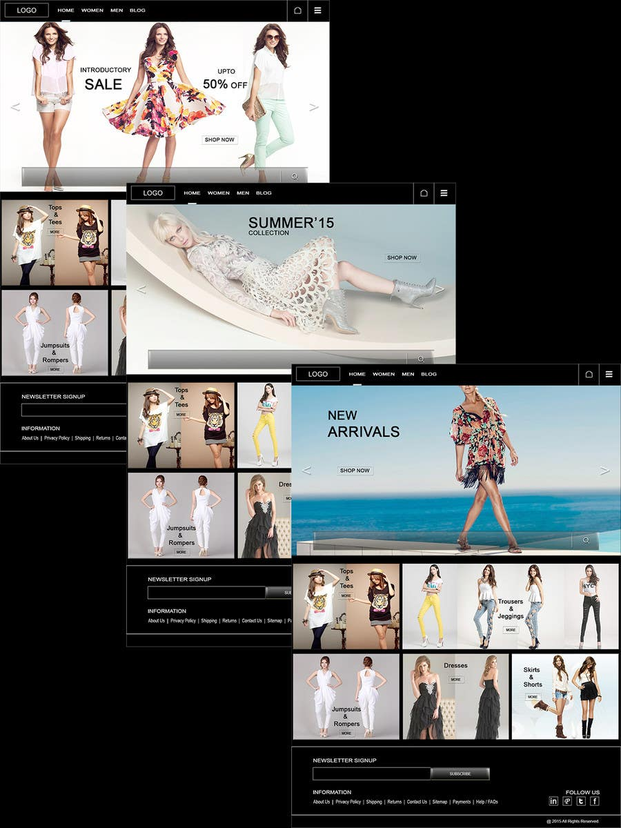 Bài tham dự cuộc thi #3 cho Design the homepage of Fashion eCommerce store