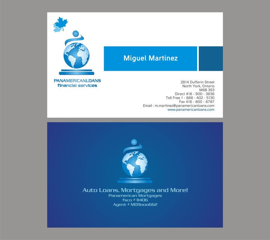 #14 for Design some Business Cards for Panamerican Loans by noelniel99