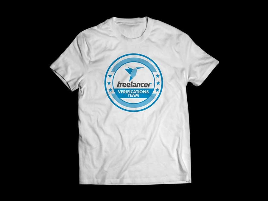 Contest Entry #                                        31                                      for                                         Design a T-Shirt for Freelancer.com's Verifications Team