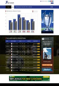 "#11 cho Simple website layout for ""Football prediction"" bởi ankisethiya"