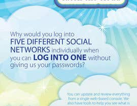 #71 untuk Full-Page Advertisement Design for Social Networking Website oleh eliespinas
