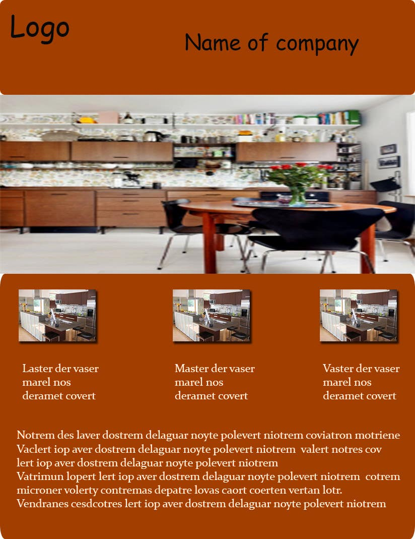 Konkurrenceindlæg #1 for Design a Brochure for our Kitchen, Counter top, window, and exterior door company