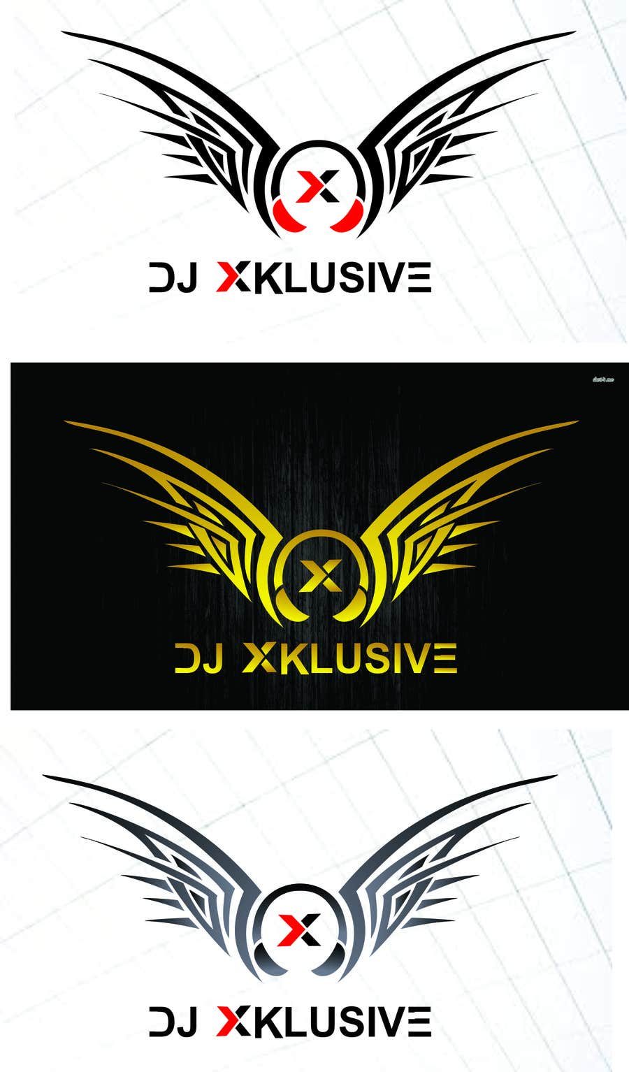 Proposition n°                                        21                                      du concours                                         Design a Logo for DJ Xklusive