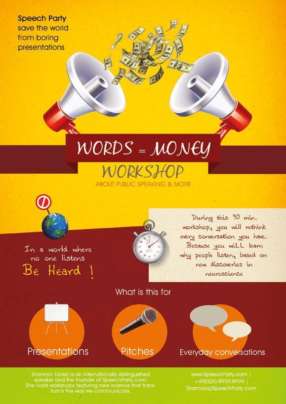 Konkurrenceindlæg #                                        4                                      for                                         Design a Flyer for Our Workshop: Words = Money