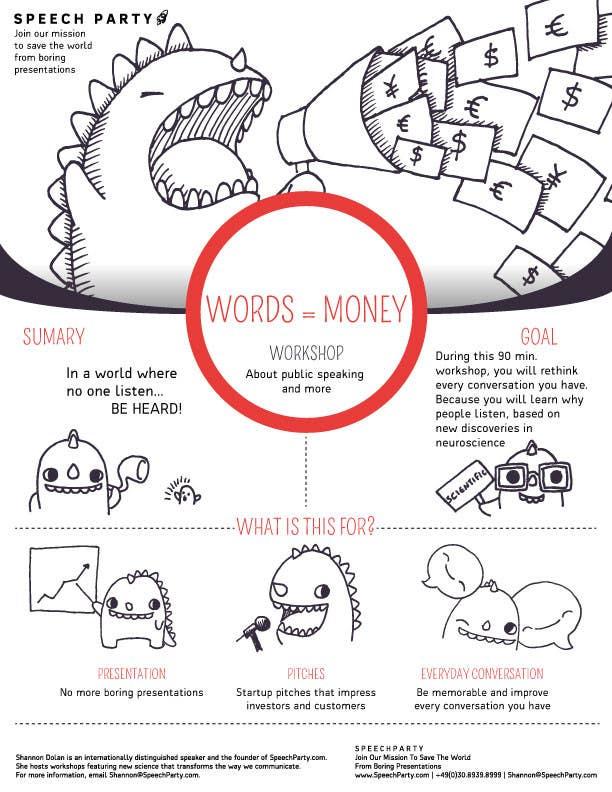 Konkurrenceindlæg #                                        1                                      for                                         Design a Flyer for Our Workshop: Words = Money