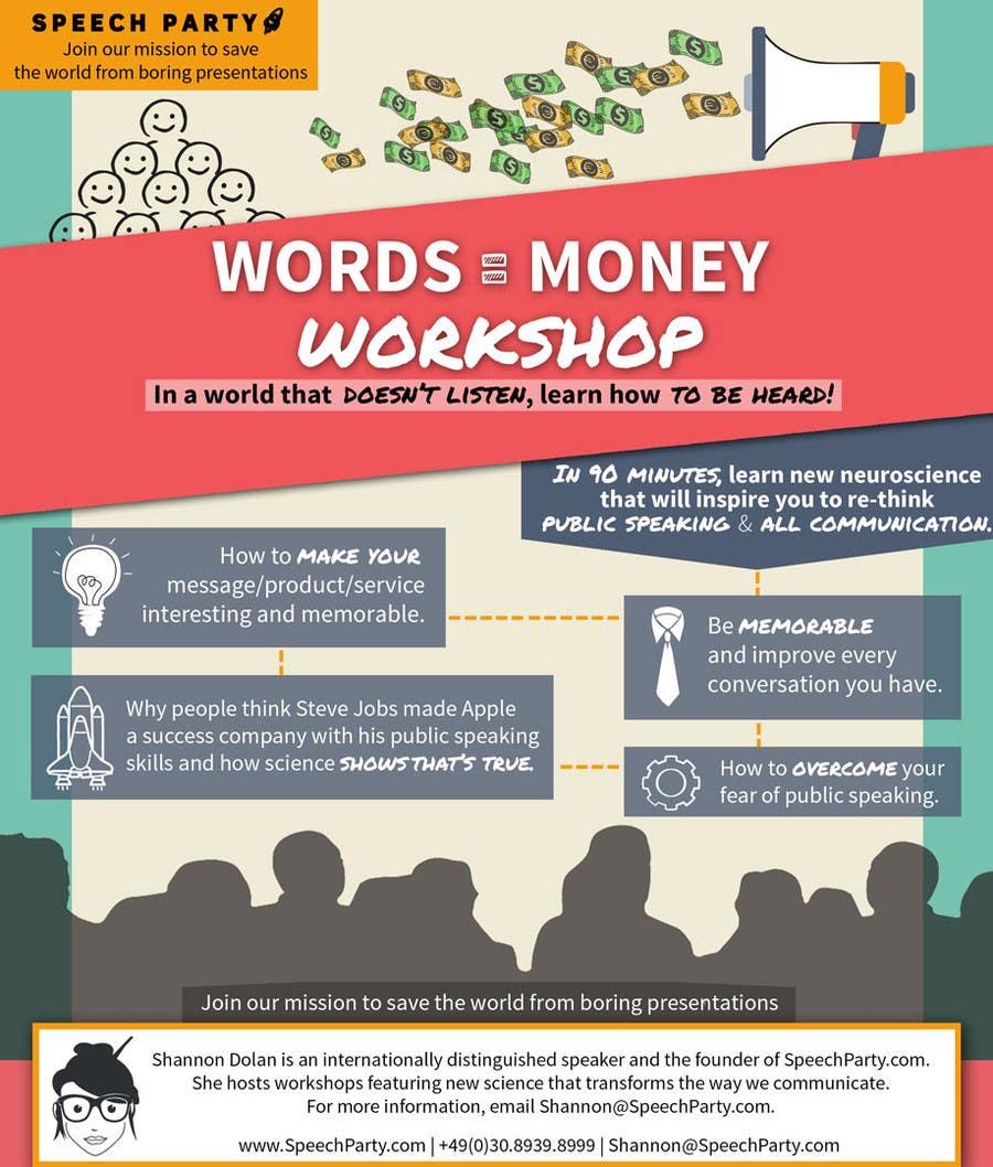 Konkurrenceindlæg #                                        8                                      for                                         Design a Flyer for Our Workshop: Words = Money