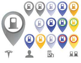 #26 for Improve Icons for map markers af Debabrata09
