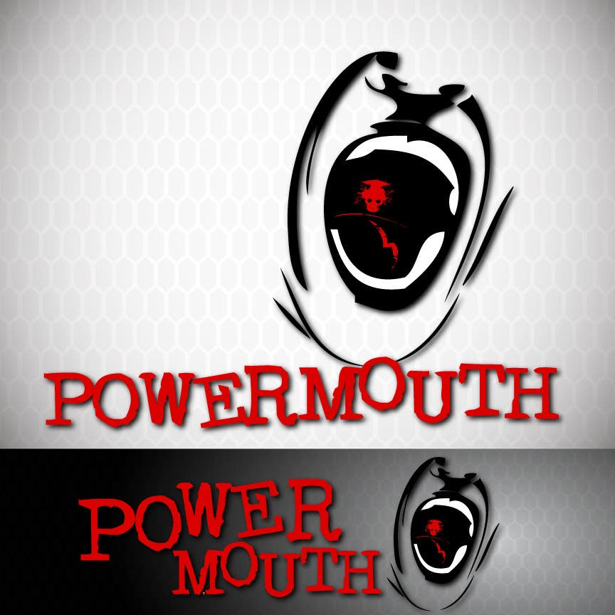 "Kandidatura #                                        48                                     për                                         Logo and Symbol Design for ""POWERMOUTH"", melodic industrial metal band"