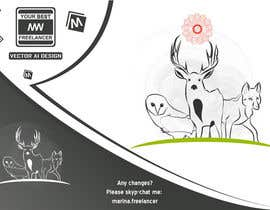 #3 for Design a logo with 3 animals (color and b/w lineart) af MarinaWeb
