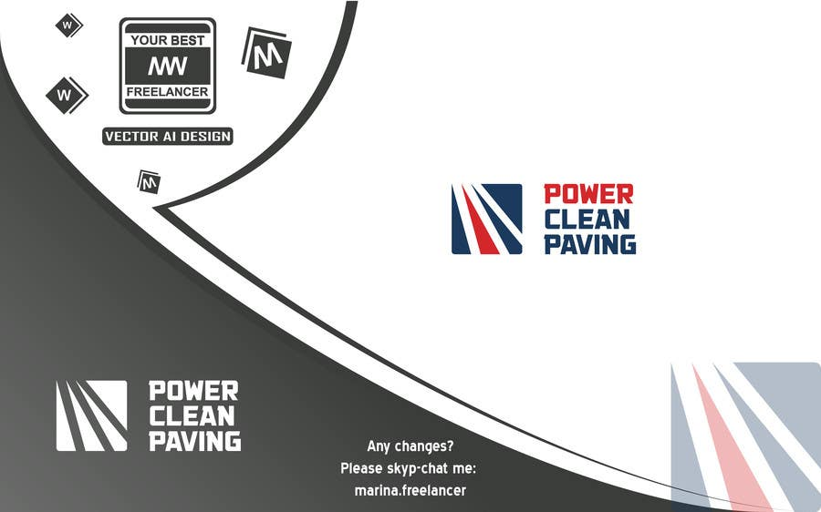 Contest Entry #38 for Design a Logo for Power Clean Paving
