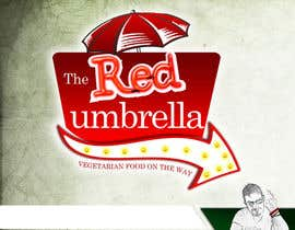#53 for Design a Logo for The Red Umbrella - A Vegetarian Food Truck af knon25