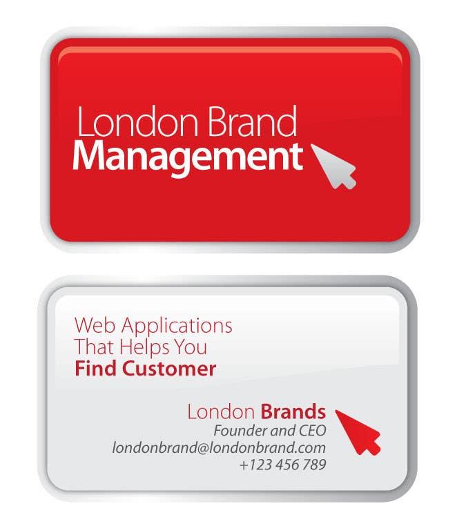 Penyertaan Peraduan #                                        18                                      untuk                                         Business Card Design for London Brand Management