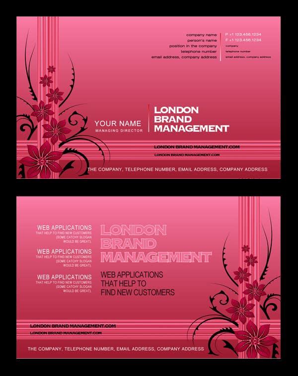 Penyertaan Peraduan #                                        39                                      untuk                                         Business Card Design for London Brand Management