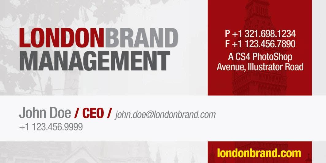 Penyertaan Peraduan #                                        2                                      untuk                                         Business Card Design for London Brand Management